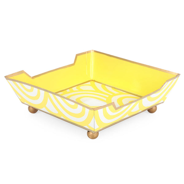 Scales Yellow Cocktail Napkin Tray