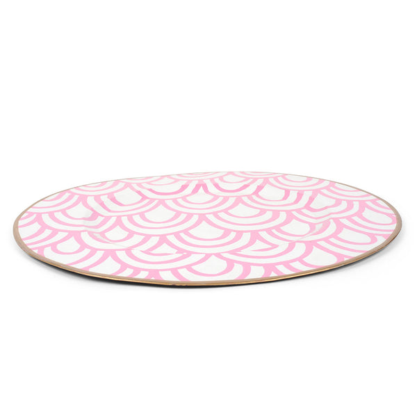 "Scales Pink 14"" Charger Plate 4-Pack"