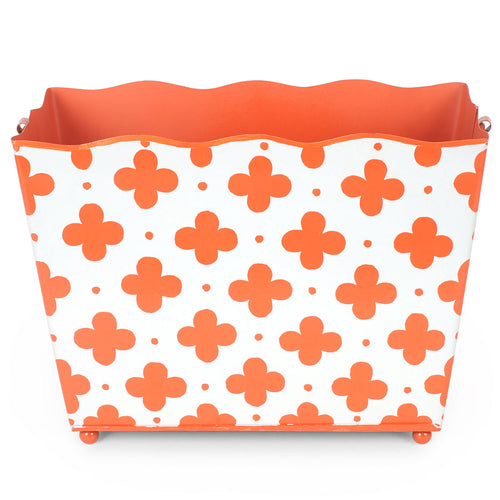 Coptic Orange Rectangle Magazine Holder