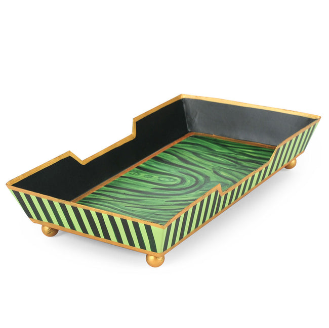 Malachite Green Guest Towel Tray