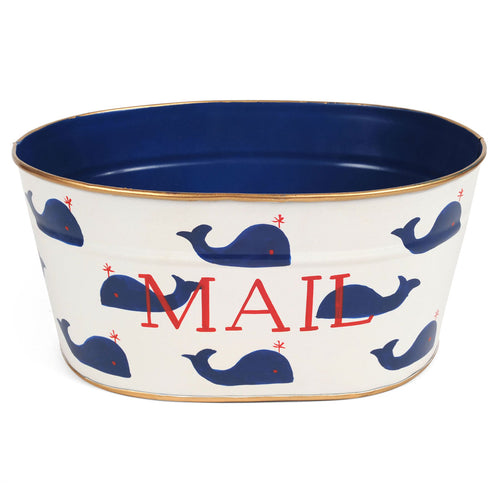 Whales Navy Mail Tub