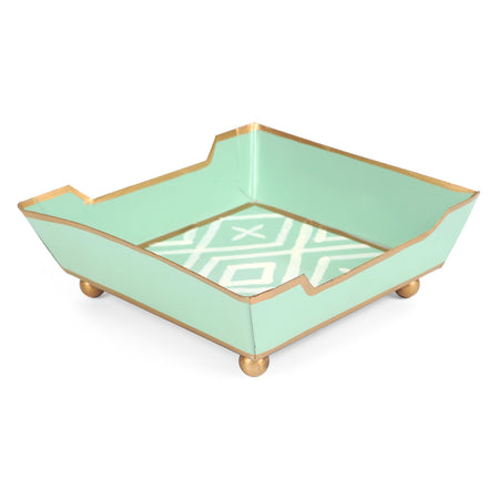 Flora Blue Cocktail Napkin Tray