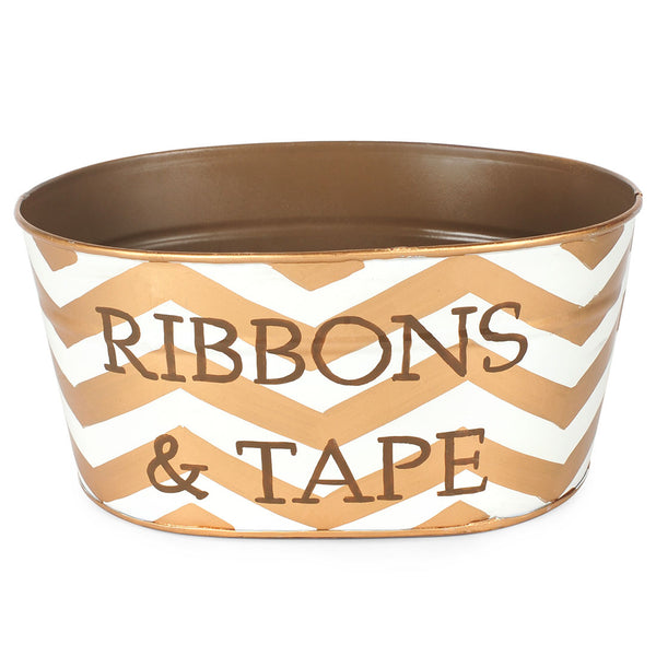 "Chevron Gold ""RIBBON AND TAPE"" Tub"