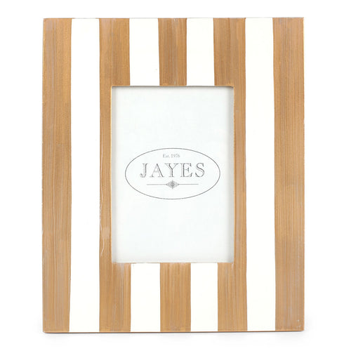 "Brushed Stripe Cream 5""x7"" Picture Frame"