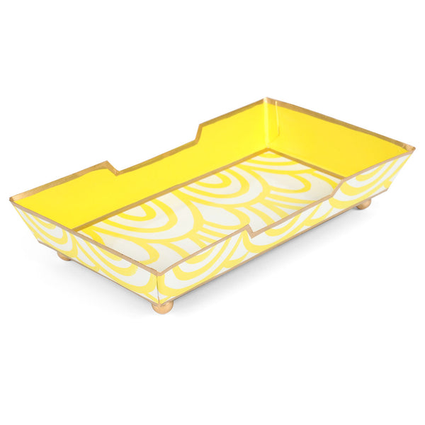 Scales Yellow Guest Towel Tray