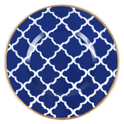 "Madeline Navy 14"" Charger Plate 4-Pack"