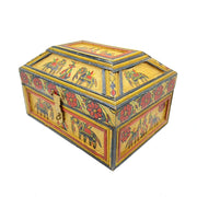 Antique Primitive Folk Art Decorative Box from Rajasthan