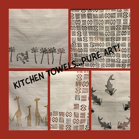 Kitchen towels a gift of art.