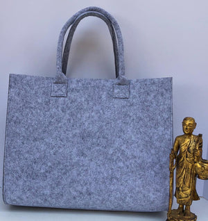 Customized Grey and Blue Handbag   Meditation Collection