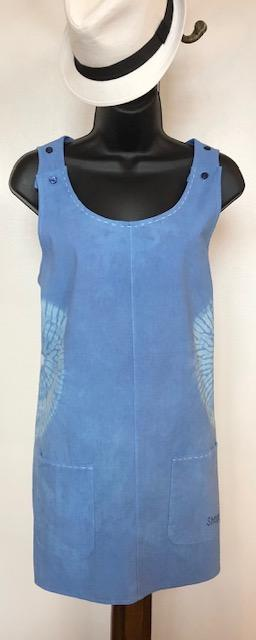 Indigo Shibori Beach Dress