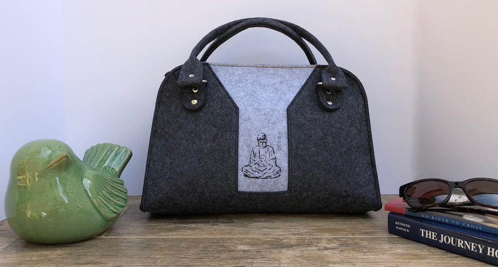 Customized Dark and Light Grey Handbag Meditation Collection