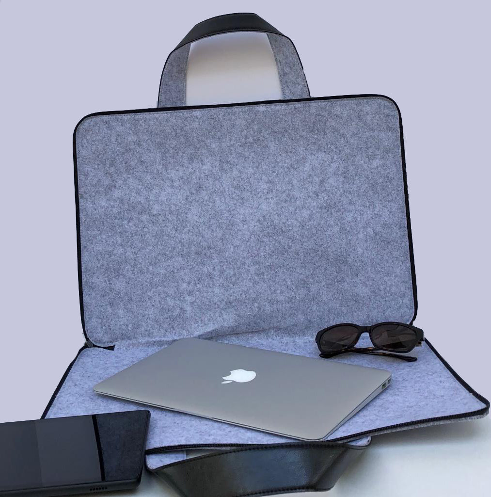 Customized Light Grey Laptop Sleeve bag  Meditation Collection