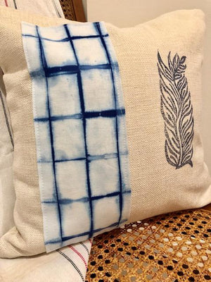 Indigo on White Shibori Throw Pillows