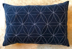 Japanese Sashiko Pillows Hand Embroidered