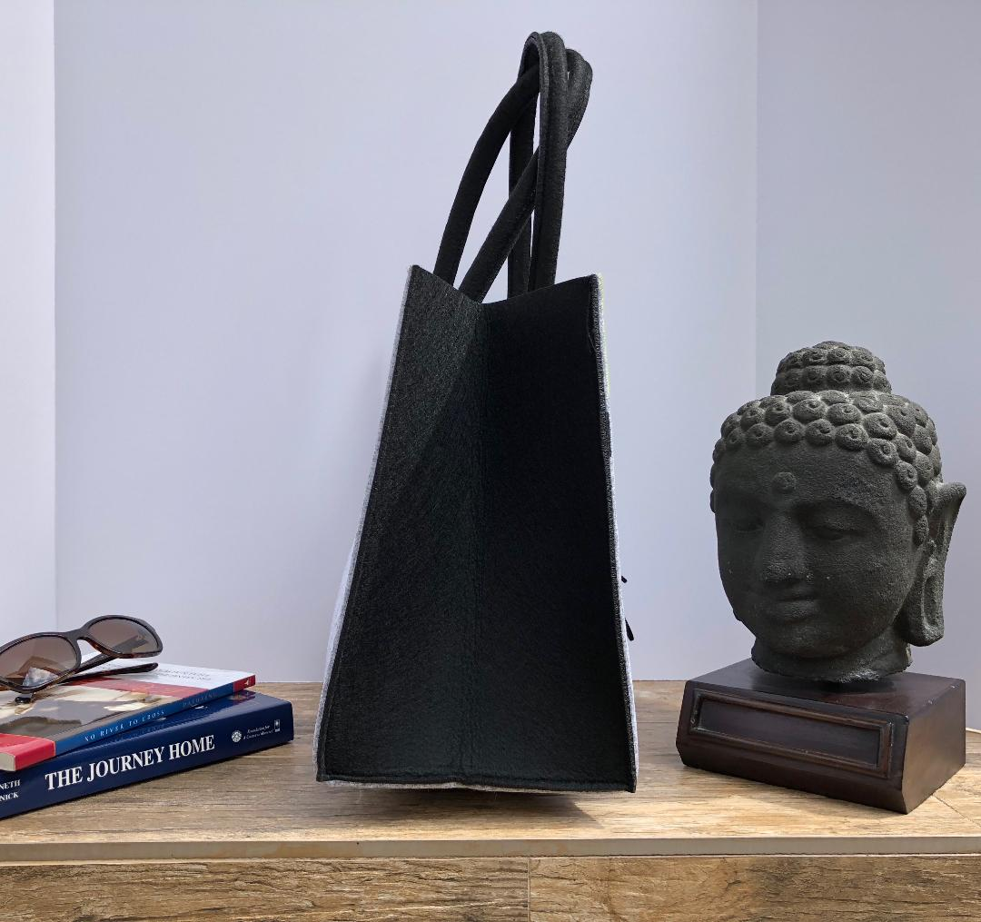 Customized Grey Green and Black Handbag   Meditation Collection