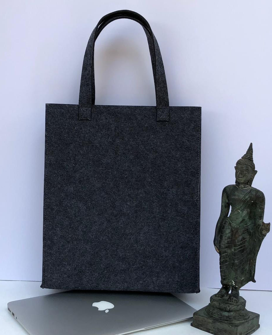 Customized Dark Grey Handbag  Meditation Collection