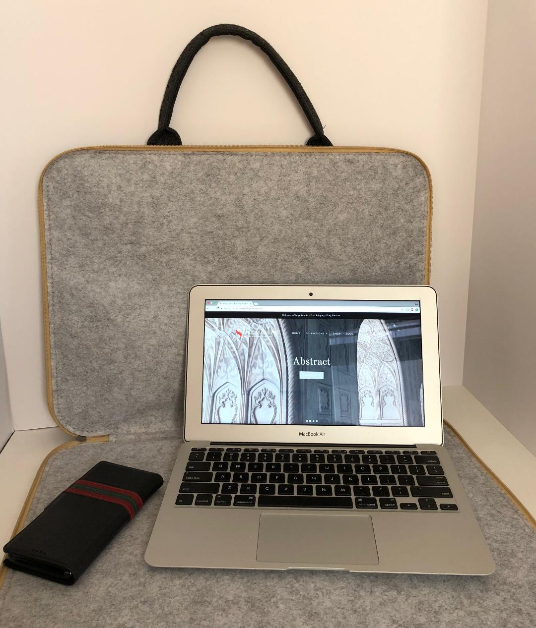 Customized Dark Grey Laptop Sleeve bag  Meditation Collection
