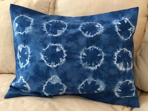 Indigo Shibori Throw Pillows