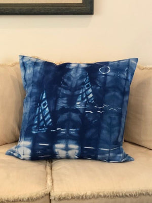 Indigo Shibori X-Large Throw Pillows