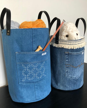 Denim Storage Baskets