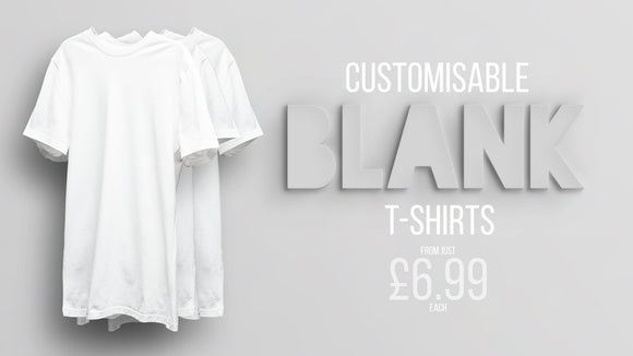 Customisable Blank T-Shirts From Just £6.99 Each