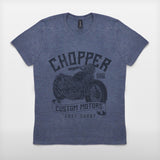 JoshyTees Custom Print 392 Men's Chopper Custom Motors Vintage T-Shirt 2