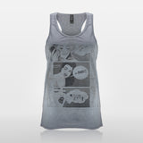 JoshyTees Custom Print 437 Women's Booty Call Racer Back Tank Top Vest 1