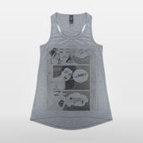 JoshyTees Custom Print 437 Women's Booty Call Racer Back Tank Top Vest 2