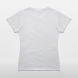 JoshyTees Women's Classic Tee White Print Your Own T-Shirt