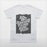 JoshyTees Custom Print 189 Mens Be Yourself V-Neck T-shirt 2