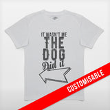JoshyTees Custom Print 241 Boys It Wasnt Me Customised Personalised T-Shirt 2