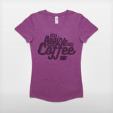 JoshyTees Custom Print 250 Womens Life Begins After Coffee Vintage-style T-Shirt 2