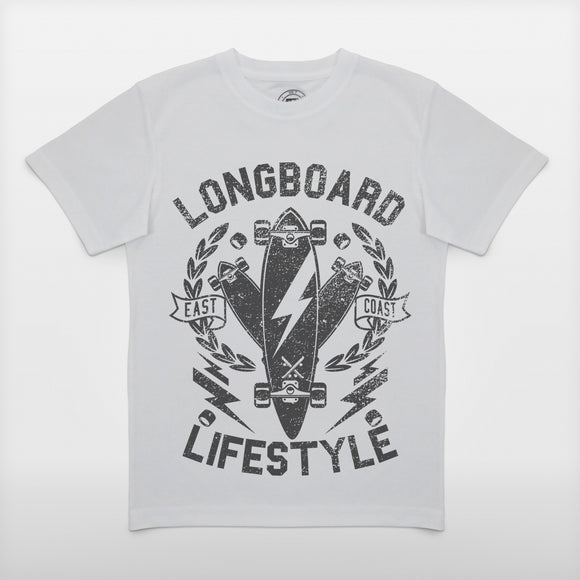 JoshyTees Custom Print 269 Boys Longboard Lifestyle T-Shirt 1