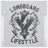 JoshyTees Custom Print 269 Boys Longboard Lifestyle T-Shirt 2