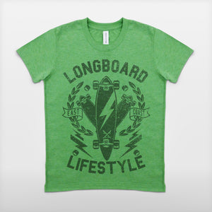 JoshyTees Custom Print 270 Boys Longboard Lifestyle T-Shirt 1