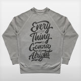JoshyTees Custom Print 282 Mens Every Little Thing Is Gonna Be Alright Bob Marley SweatShirt 2