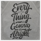 JoshyTees Custom Print 282 Mens Every Little Thing Is Gonna Be Alright Bob Marley SweatShirt 3
