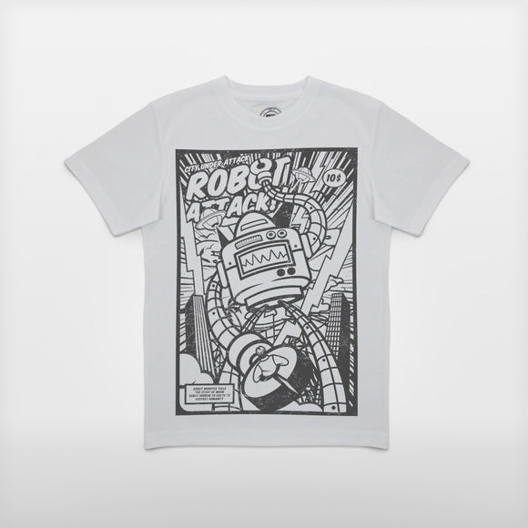 JoshyTees Custom Print 97 Boy's Robot Attack!! 1