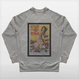JoshyTees Custom Print 98 Men's Attack Of The 50Ft Woman Raglan Sweat 2