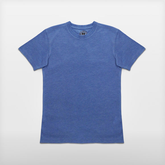 JoshyTees custom print Boys 165B Russell HD T-Shirt Blue Marl i