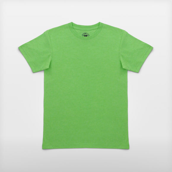 JoshyTees custom print Boys 165B Russell HD T-Shirt Green Marl i