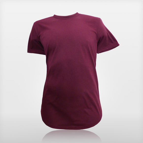 JoshyTees custom print Men's AV113 Maroon Anvil Curved T-Shirt i