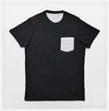 JoshyTees Custom Print - Mens Pocket Tee - Black / White - View 2