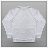 JoshyTees Custom Print - Mens Raglan Sweat - White - View 2