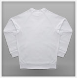 JoshyTees Custom Print - Mens Raglan Sweat - White - View 3