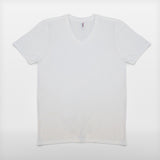JoshyTees custom print Men's AV171 Anvil Tri-Blend V Neck T-Shirt White Create Your Own T-Shirt