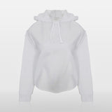 JoshyTees custom print Sublimation Women's AWDis Girlie Cross Back Hoodie JC054 Arctic White