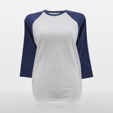 JoshyTees custom print Women's Raglan T-Shirt White Indigo Print Your Own T-Shirt