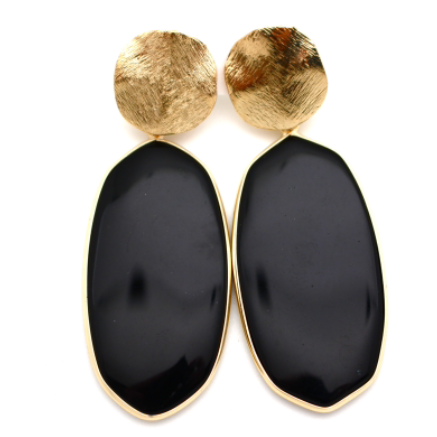 Studded Agage Drop Earring