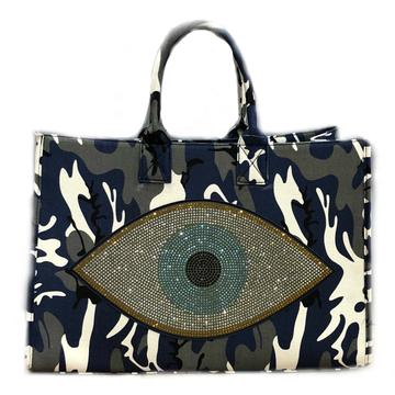 Camo Canvas Evil Eye Shopper